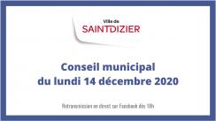 Conseil municipal du lundi 14 décembre 2020