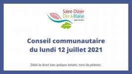 Conseil communautaire du lundi 12 juillet 2021